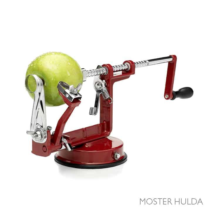 Röd skalare med grönt äpple